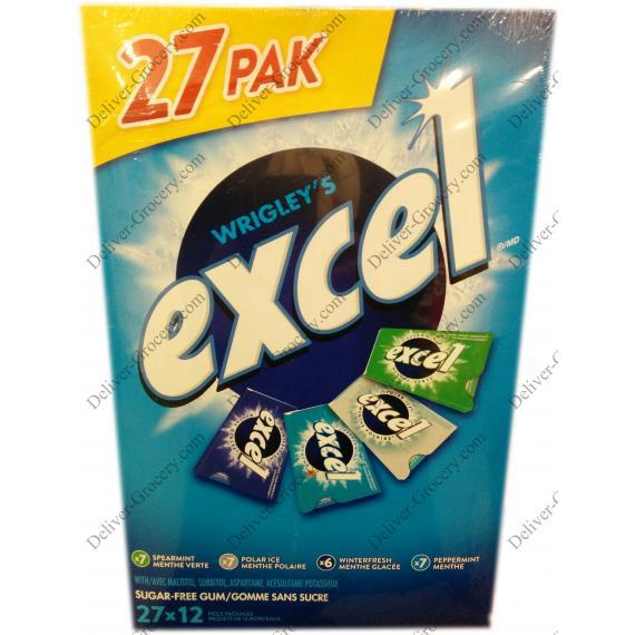 Excel Variety Pack Sugar Free Gum, 27 packs