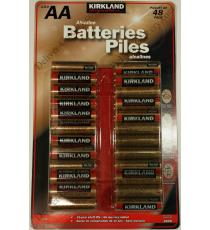 Kirklnad AA Alkaline Battery, 48 batteries