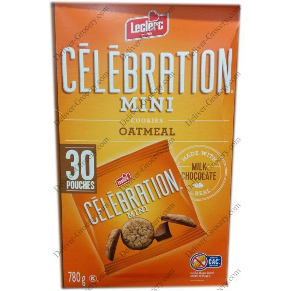 Lecrlerc Celebration Mini Oatmeal Cookies, 30 packs, 780 g