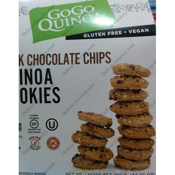 GOGO Quinoa Dark Chocolate Chips Cookies, 396 gr