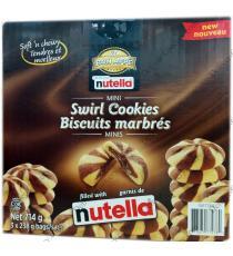 BON APPE Nutella Mini Swirl Cookies, 3 x 238 g