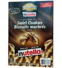 BON APPE Nutella Mini Tourbillon de Cookies, 3 x 238 gr