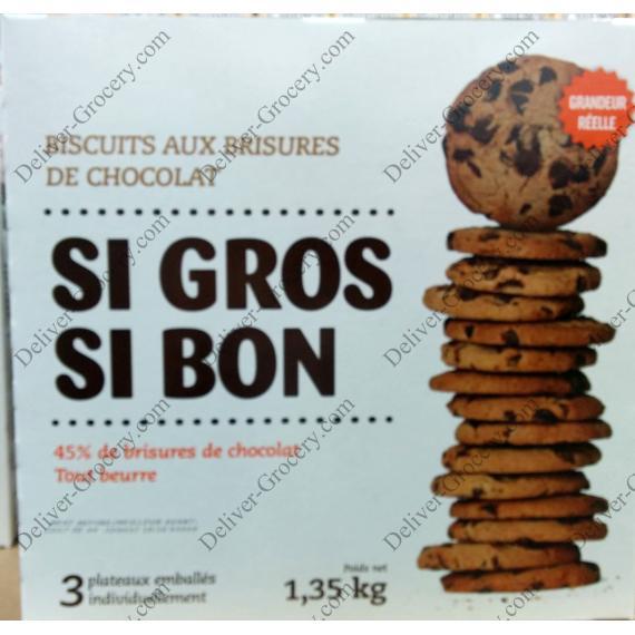 SI GROS SI BON Chocolate Chips Cookies, 1.35 kg