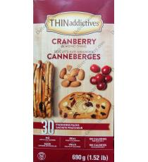 THIN Addictives Cranberry Almond Thins, 30 packs x 23 g, 690 g