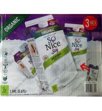 SO NICE Organic Soya, 3 x 1.89 L,