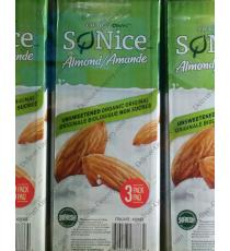 SO NICE Organic Unsweetened Almond, , 3 x 1.89 L,
