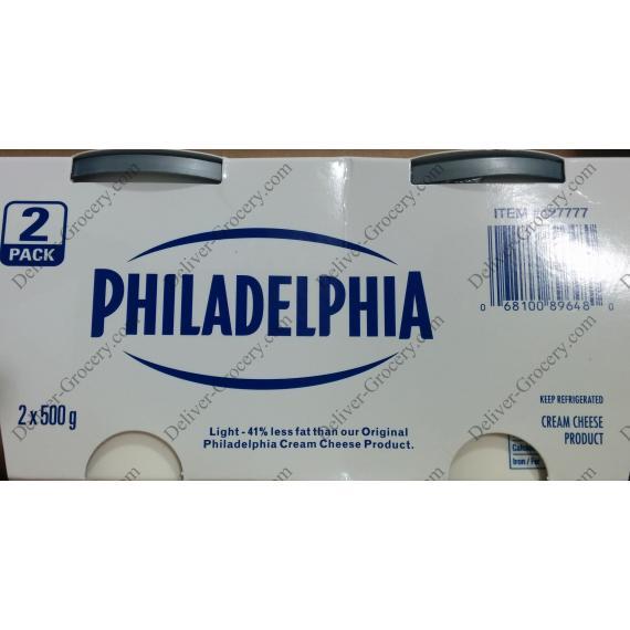 PHILADELPHIA, la Crème de Fromage, 2 x 500 g
