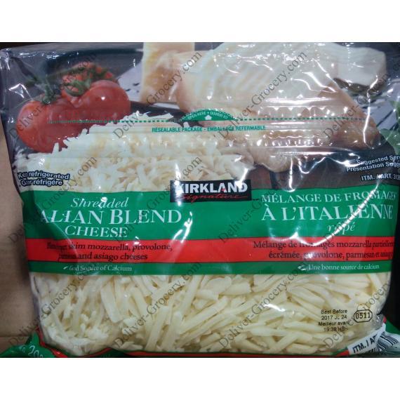 Kirkland Signature Shredded Italian Blend Cheese, 2 x 625 g