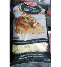 Saputo Deluxe Shredded Pizza Mozzarella Cheese, 2.5 kg