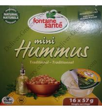 Fontaine Santé Mini Houmous Traditionnel, 16 x 57 g