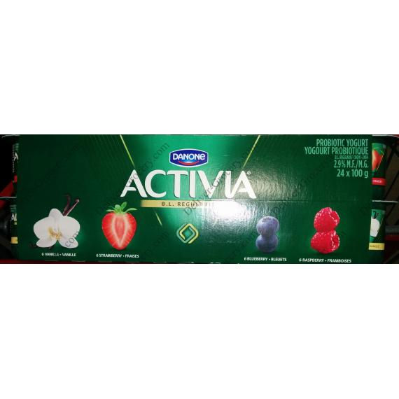 DANONE ACTIVIA Probiotic Yogurt, 24 x 100 g
