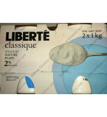 LIBERTE Classic Nature Plain Yogurt 2%,2x1kg