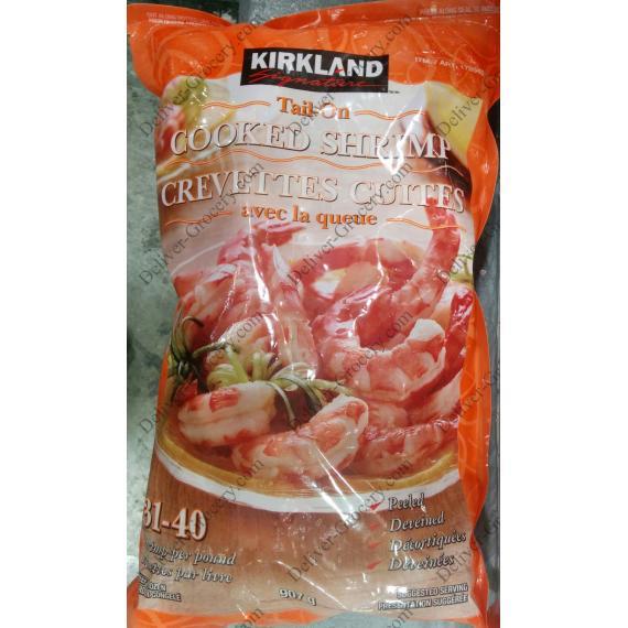 Kirkland Signature de la Queue Cuit Crevettes 31/40, 907 g