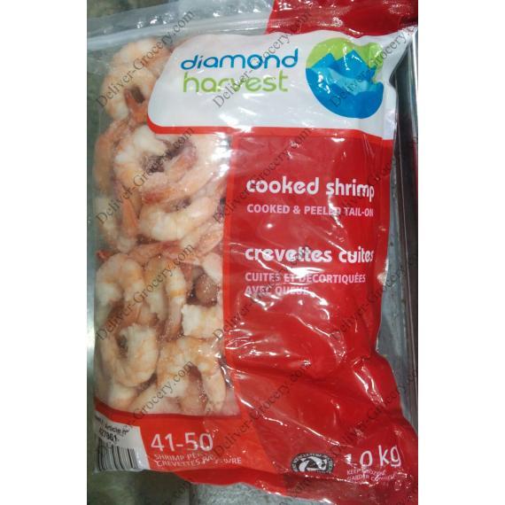 Diamond Harvest Cooked Shrimp 41/50, 1 kg