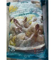 Kirkland Signature Frozen Chemical-free 21/25 Tail-on Raw Shrimp 680 g