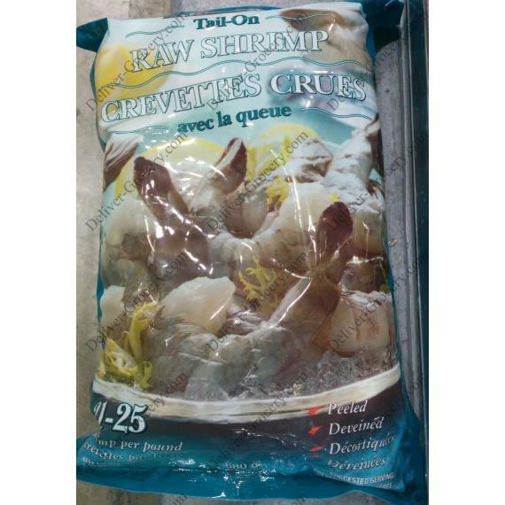 Kirkland Signature Tail-on Raw Shrimps 21/25, 680 g