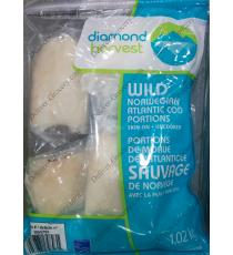 Diamond Harvest Wild Norwegian Atlantic Cod Portions, 1.02 kg