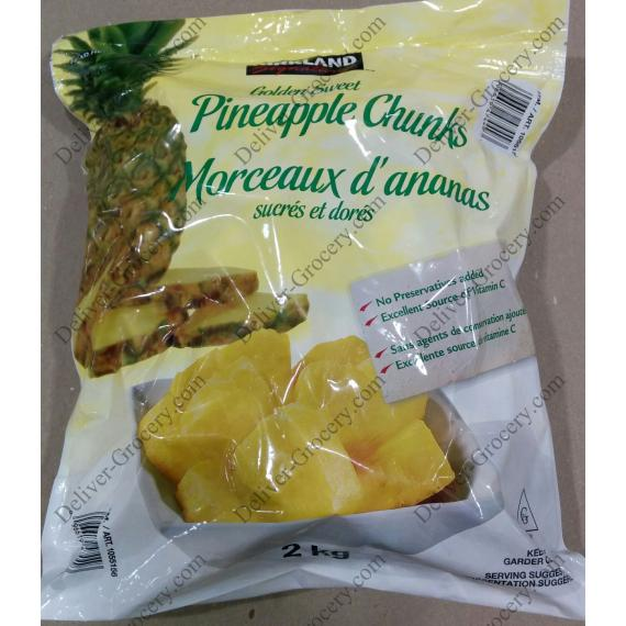 Kirkland Signature Golden Sweet Pineapple Chunks, 2 kg