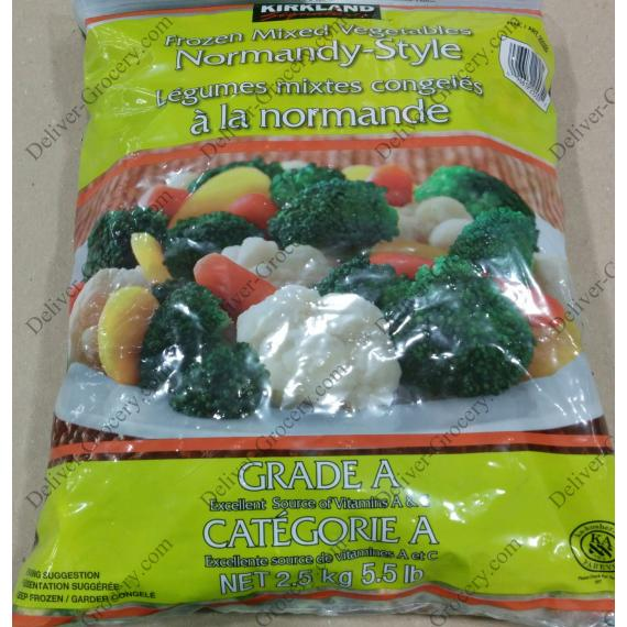 Kirkland Signature Frozen Mixed Vegetables Normandy Style, 2.5 kg