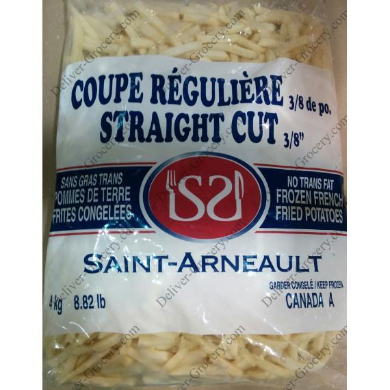 SAINT-ARNEAULT Straight Cut Frozen French Fried Potatoes, 4 kg