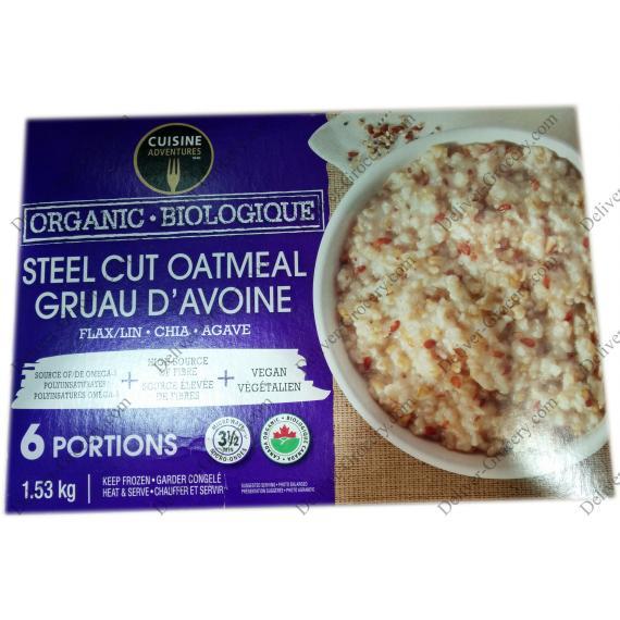 Cuisine Adventures Organic Steel Cut Oatmeal, 1.53 kg