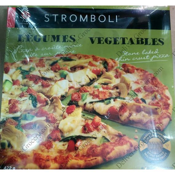 STROMBOLI Légumes Cuites sur Pierre Pizza à Croûte Mince, 3 x 422 g
