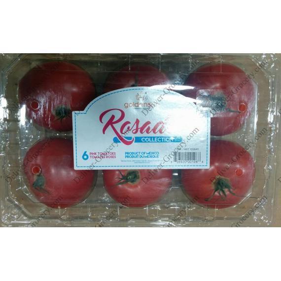 GOLDENSUN Rosad Rose Tomates, 6 x
