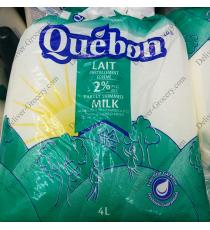 Quebon Partly Skimmed Milk 2%, 4 L