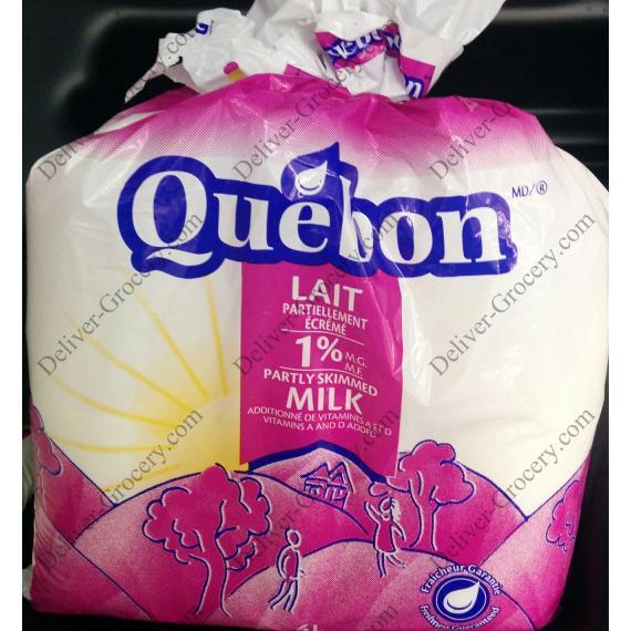 Quebon Partly Skimmed Milk 1%, 4 L