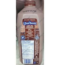 Quebon Partly Skimmed Chocolate Milk 1%, 2 L