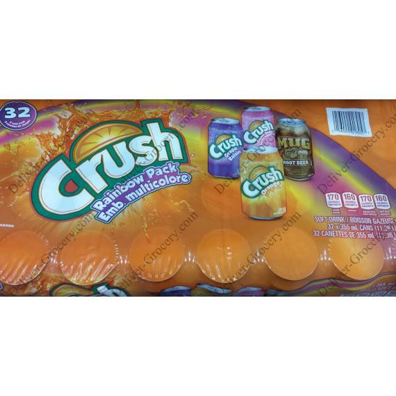Crush Rainbow Pack Emb. multicolors, 32 x 355 g