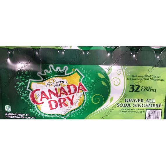 Canada Dry Ginger Ale Canettes, 32 x 355 ml