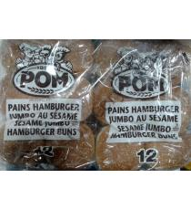 POM Sesame Jumbo Hamburger Buns, 2 x 12