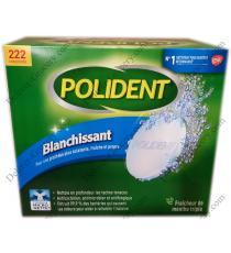 POLIDENT - Boite de 222 pastilles de nettoyant quotidien blanchissant