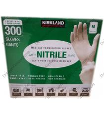 Kirkland Signature Nitrile Medical Examination Gloves Medium M, 2 x 150