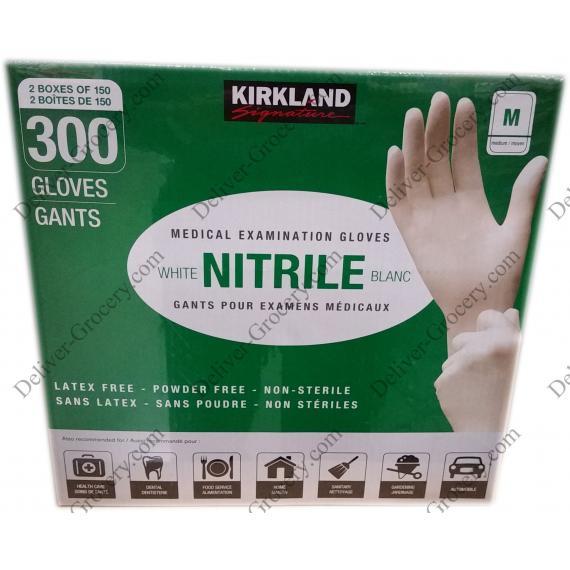 Kirkland Signature Nitrile Gants d'Examen Médical de Moyenne M, 2 x 150