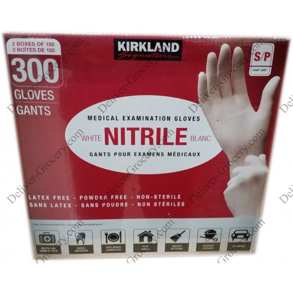 Kirkland Signature Nitrile Medical Examination Gloves Small S/P, 2 x 150