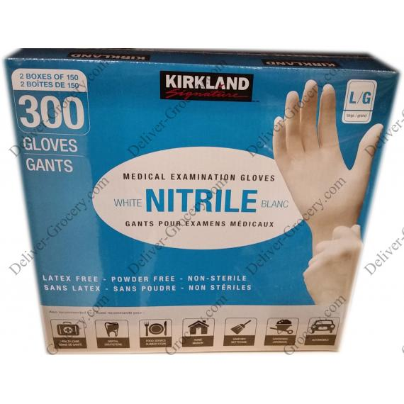 Kirkland Signature Nitrile Medical Examination Gloves Large L/G, 2 x 150
