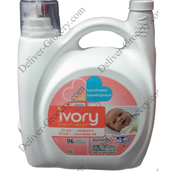 Ivory Snow Laundry Detergent, 4.43 L
