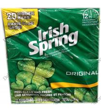 IRISH SPRING Savon désodorisant, 113 g, pqt de 20
