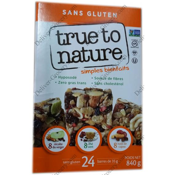 True to Nature Gluten Free Bars 840 g
