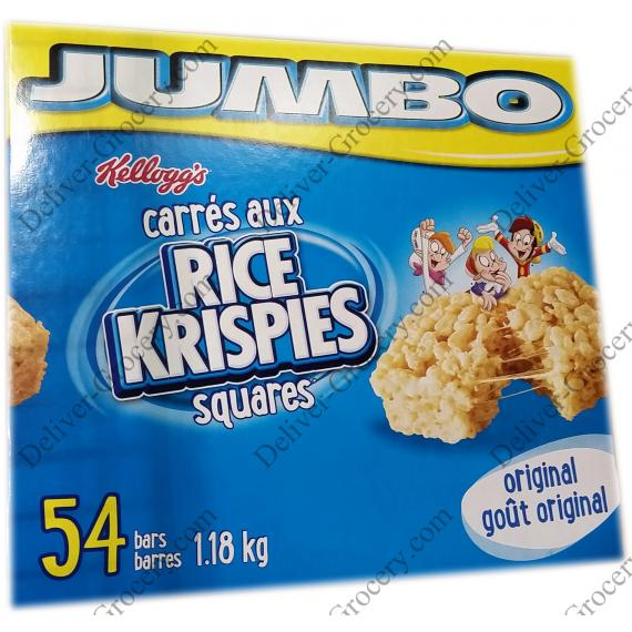 Kelloggs Jumbo Rice Krispies Squares, 1.18 kg