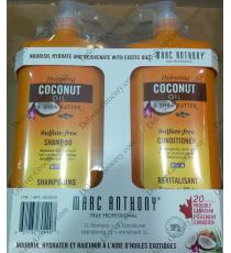 Marc Anthony Coconut Oil and Shea Butter Shampoo and Conditioner 2 x 1 L