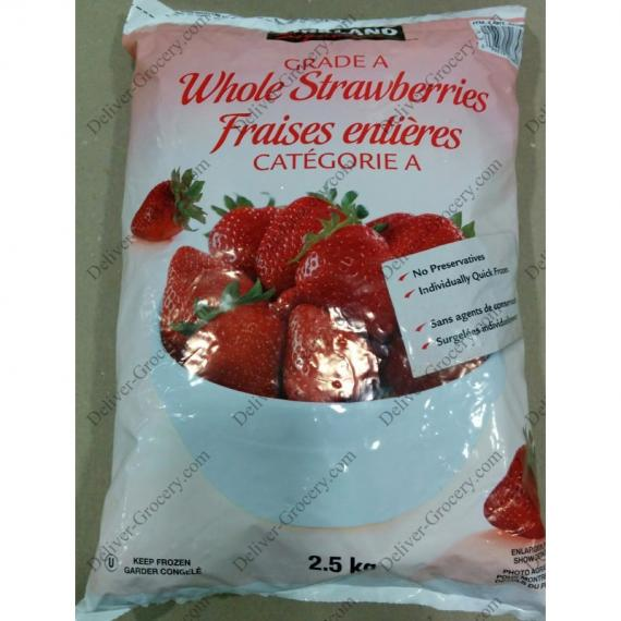 Kirkland Signature Grade A Whole Strawberries, 2.5 kg