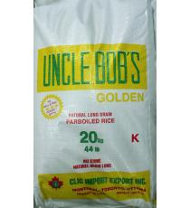Uncle Bob's Golden Parboiled Rice, 20 kg