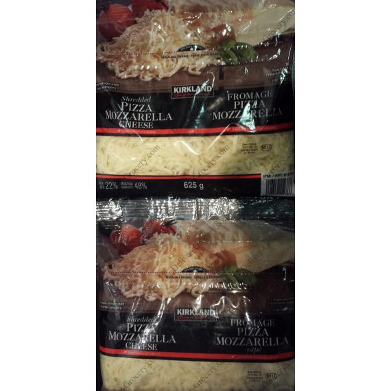 Kirkland Shredded Pizza Mozzarella Cheese, 2*625 gr
