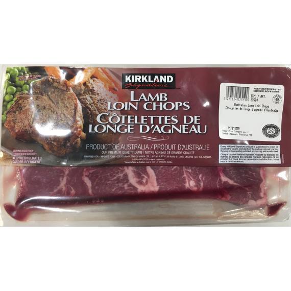 Kirkland Signature, Australian Lamb Loin Chaps, 1 kg (+/- 50 gr)