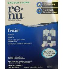 re-nu Fresh Multi-Purpose Solution, 2*480 ml + 60ml