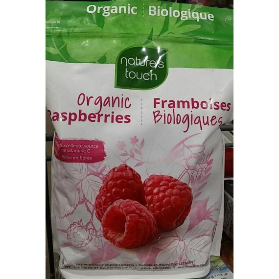 Natures Touch Organic Raspberries, frozen, 1.5 kg