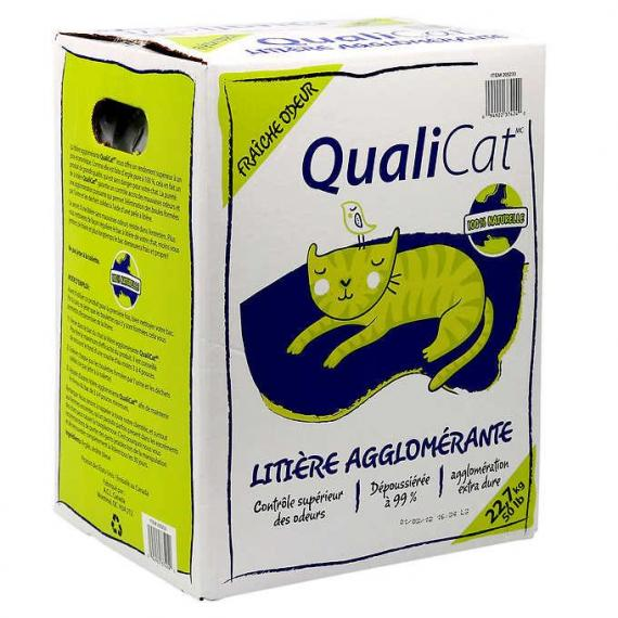 Qualicat Scoopable Cat Litter, 22.7 kg